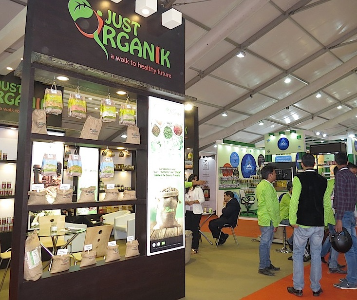 Just Organic booth at BioFach India 2016
