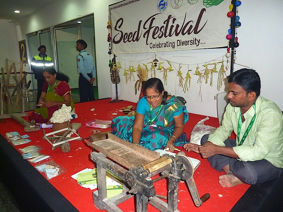 The Seed Festival was a proof of the very high biodiversity of the country and handicraft skills.